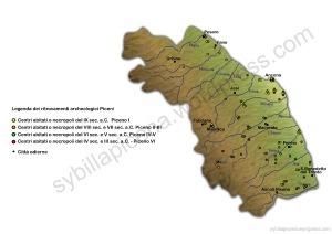 Mappa dei ritrovamenti piceni