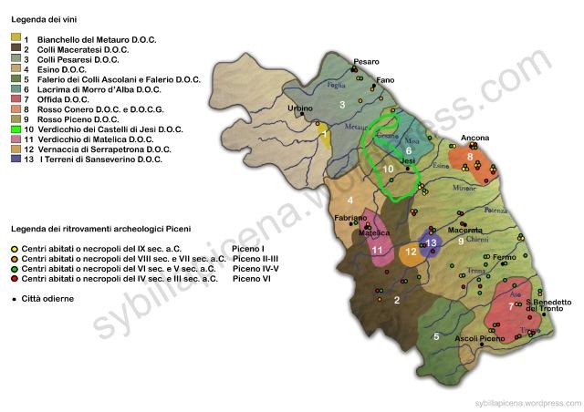 Mappa vino e arche