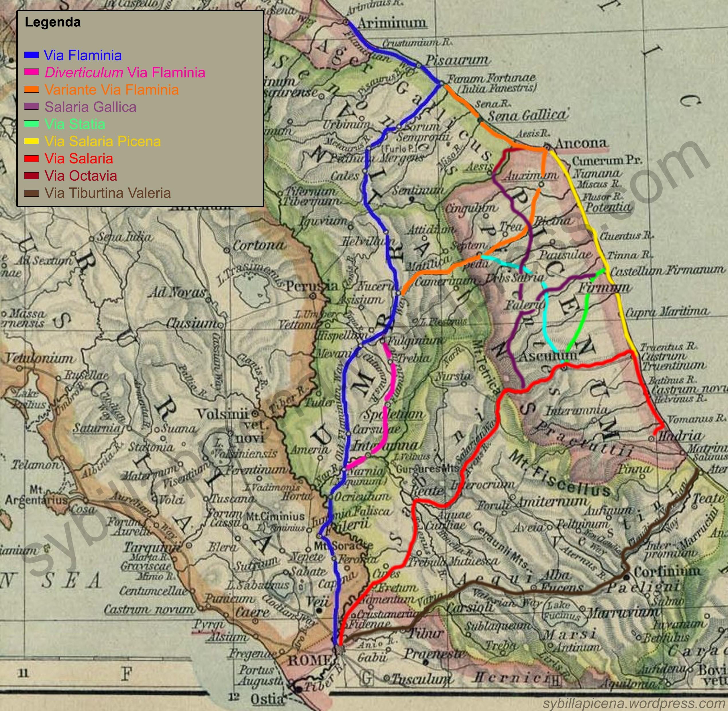 Litorale Marche Cartina.Storia Delle Nostre Strade La Viabilita Antica Nelle Marche Sybilla Picena